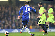 Ruben Loftus-Cheek of Chelsea taking a shot at goal. The Emirates FA cup, 3rd round match, Chelsea v Peterborough Utd at Stamford Bridge in London on Sunday 8th January 2017.<br /> pic by John Patrick Fletcher, Andrew Orchard sports photography.