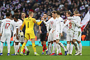 England players celebrating after win during the UEFA Nations League match between England and Croatia at Wembley Stadium, London, England on 18 November 2018.