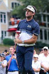 June 24, 2018 - Cromwell, Connecticut, United States - Bubba Watson watches his tee shot off the 18th hole during the final round of the Travelers Championship at TPC River Highlands. (Credit Image: © Debby Wong via ZUMA Wire)