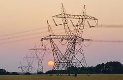 July 21, 2019 - Power Lines At Sunset (Credit Image: © Bilderbuch/Design Pics via ZUMA Wire)
