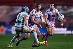 Ian Whitten of Exeter Chiefs is marked by Wenceslas Lauret of Racing 92 - Mandatory by-line: Ryan Hiscott/JMP - 17/10/2020 - RUGBY - Ashton Gate Stadium - Bristol, England - Exeter Chiefs v Racing 92 - Heineken Champions Cup Final