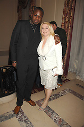 VANESSA FELTZ and BEN OFOEDU at a party to celebrate the publication of The End of Sleep by Rowan Somerville held at the Egyptian Embassy, London on 27th March 2008.<br /><br />NON EXCLUSIVE - WORLD RIGHTS