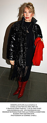 DONATELLA FLICK at an exhibition in London on 2nd February 2004.PRF 103