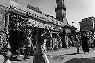 Egypt . Cairo : AL SALLY AYUB   mosque minaret in sharia Al Mu'izz LI DIN Allah street    islamic Cairo     NM38 The mausoleum of AS Salih Al-din  Ayyub