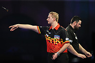 Dimitri Van den Bergh during his match with Luke Humphries during the World Darts Championships 2018 at Alexandra Palace, London, United Kingdom on 27 December 2018.