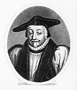 William Laud (1573-1645),  Archbishop of Canterbury from 1633, religious adviser to Charles I. Persecuted  the Puritans, attempted to force Anglican liturgy on Presbyterian church in Scotland, and laid down new canons of the Laudian church. Engraving 1814