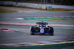 February 19, 2019 - Montmelo, Barcelona, Catalonia, Spain - Barcelona-Catalunya Circuit, Montmelo, Catalonia, Spain - 19/02/2018: Alex Albon of Scuderia Toro Rosso Honda with the new STR14 car during second journey of F1 Test Days in Montmelo circuit. (Credit Image: © Javier MartíNez De La Puente/SOPA Images via ZUMA Wire)