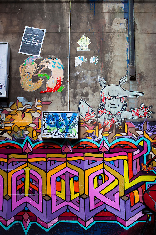 Graffiti on Hosier Lane, Melbourne