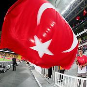 Turkey's supporters during their UEFA Euro 2016 qualification Group A soccer match Turkey betwen Czech Republic at Sukru Saracoglu stadium in Istanbul October 10, 2014. Photo by Aykut AKICI/TURKPIX