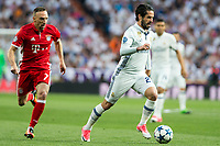 Franck Ribery -b and Isco Alarcon of Real Madrid during the match of Champions League between Real Madrid and FC Bayern Munchen at Santiago Bernabeu Stadium  in Madrid, Spain. April 18, 2017. (ALTERPHOTOS)