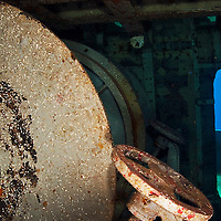 Cable Spools, USS Kittiwake, Grand Cayman