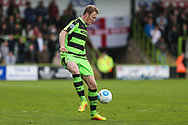 Forest Green Rovers Mark Ellis(5) controls the ball during the Vanarama National League match between Forest Green Rovers and Chester FC at the New Lawn, Forest Green, United Kingdom on 14 April 2017. Photo by Shane Healey.