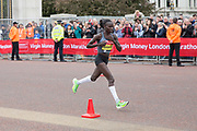 Vivian Cheruiyot of Kenya during the elite womens race on The Mall during The Virgin London Marathon on 28th April 2019 in London in the United Kingdom. Now in it's 39th year The London Marathon is a large sporting event with over 40,000 runners expected to take part.
