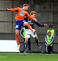 Fotball <br /> Tippeligaen<br /> 11.04.2010 <br /> Aalesund v Viking 3-1<br /> color line stadion<br /> <br /> Daniel arnefjord - aalesund<br /> Patrik ingelsten - viking<br /> Foto:Richard brevik Digitalsport