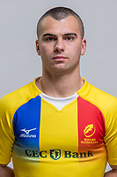 CLUJ-NAPOCA, ROMANIA, FEBRUARY 27: Romania's national rugby player Tudorel  Bratu pose for a headshot, on February 27, 2018 in Cluj-Napoca, Romania. (Photo by Mircea Rosca/Getty Images)