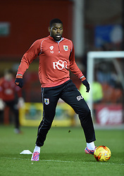 Bristol City's Jay Emmanuel-Thomas warms up before the Johnstone's Paint Trophy south area final second leg game between Bristol City and Gillingham on 29 January 2015 in Bristol, England - Photo mandatory by-line: Paul Knight/JMP - Mobile: 07966 386802 - 29/01/2015 - SPORT - Football - Bristol - Ashton Gate Stadium - Bristol City v Gillingham - Johnstone's Paint Trophy