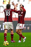 Esultanza gol di Giacomo Bonaventura Milan 1-0. Celebration goal<br /> Milano 22-02-2015 Stadio Giuseppe Meazza - Football Calcio Serie A Milan - Cesena. Foto Giuseppe Celeste / Insidefoto