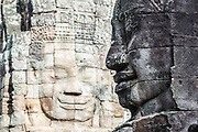 Bayon Temple, part of Angkor Thom, has many faces made many centuries ago.