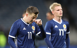 Scotland's Callum McGregor leaves the pitch after the final whistle of the International Friendly match at Hampden Park, Glasgow.