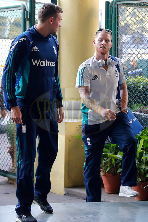 Ben Stokes of England during day 2 of the third test match between India and England held at the Punjab Cricket Association IS Bindra Stadium, Mohali on the 27th November 2016.<br /> <br /> Photo by: Deepak Malik/ BCCI/ SPORTZPICS