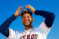 Astros Yuli Gurriel poses for a portrait.<br /> <br /> Photo by Tom DiPace