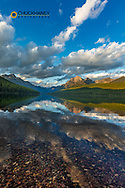 Late afternoon at Bowman Lake in Glacier National Park, Montana, USA