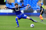 Scott Malone of Cardiff city in action. Skybet football league championship match, Cardiff city v Bolton Wanderers at the Cardiff city Stadium in Cardiff, South Wales on Saturday 23rd April 2016.<br /> pic by Andrew Orchard, Andrew Orchard sports photography.