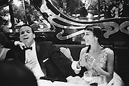 Harry Belafonte having fun at Maxim's with his wife, Julie Robinson, after one of his concerts.<br /> <br /> <br /> <br /> Harry Belafonte dinant à Maxim avec sa femme Julie Robinson , après l'un de ses concerts .