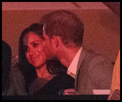 October 1, 2017 - Toronto, Canada - Image licensed to i-Images Picture Agency. 30/09/2017. Toronto, Canada. Prince Harry and Meghan Markle at the closing ceremony of the  Invictus Games in Toronto, Canada.  Picture by Stephen Lock / i-Images (Credit Image: © Stephen Lock/i-Images via ZUMA Press)