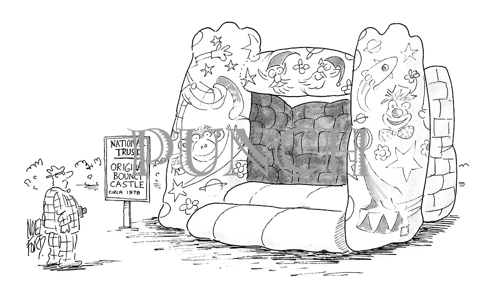 (National Trust: Original Bouncy Castle circa 1978)