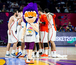 Tournament mascot Sam Dunk after the basketball match between National Teams  Spain and Russia at Day 18 in 3rd place match of the FIBA EuroBasket 2017 at Sinan Erdem Dome in Istanbul, Turkey on September 17, 2017. Photo by Vid Ponikvar / Sportida