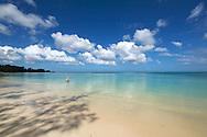 Mauritius Island. A men into the sea