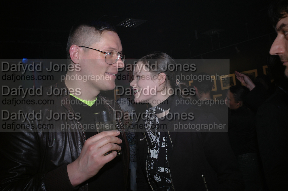 Giles Deacon and Jasmine Guinness. Future Punk Launch party at Selfridges, Oxford St. : 9th March. ONE TIME USE ONLY - DO NOT ARCHIVE  © Copyright Photograph by Dafydd Jones 66 Stockwell Park Rd. London SW9 0DA Tel 020 7733 0108 www.dafjones.com