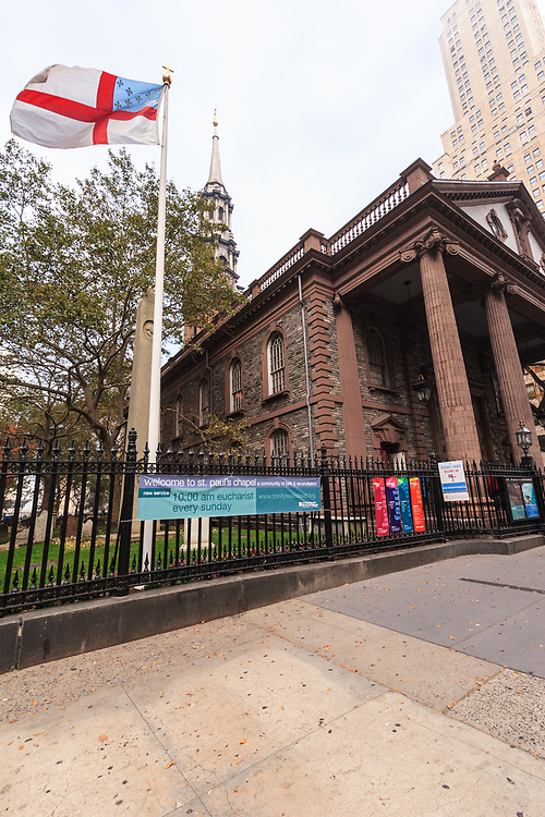 St. Paul's Chapel is an Episcopal chapel located in New York City, USA. Amazingly the chapel survived unscathed in the attack against the World Trade Center. St. Paul's Chapel served as a place of rest and refuge for recovery workers at the WTC site.