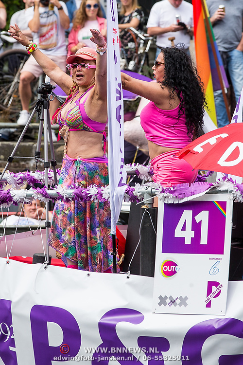 NLD/Amsterdam/20170805 - Gaypride 2017, boot Sekswerkers