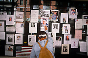 Relatives and friends remember the missing a week after the attacks on the twin towers on 9/11. During a journey into America's hinterlands, days after the September 11th attacks in New York and Washington DC, eccentric New Yorkers gather at the city's Armory to offer help and support by handing our fluffy bunnies to passers-by. The streets between 66th and 67th Streets, in the heart of Manhattan's Upper East Side, DNA samples were taken at the Armory so human remains might be identified. It was therefore a point of focus for those with missing relatives who attached thousands of posters to walls with pictures and messages to loved-ones in the hope of being reunited. Emotions were running high and many citizens offered spiritual aide such as food and drink. In outpourings of grief, anger and patriotic rhetoric, flags were flown as never before as  America sought to express their emotions and unity..