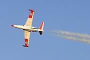 Israeli Air force Fouga Magister in aerobatics display