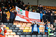 FGR supporters during the EFL Sky Bet League 2 match between Port Vale and Forest Green Rovers at Vale Park, Burslem, England on 23 March 2019.
