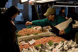Venice (Italy) 20-02-07 - Fish Market in Venice.