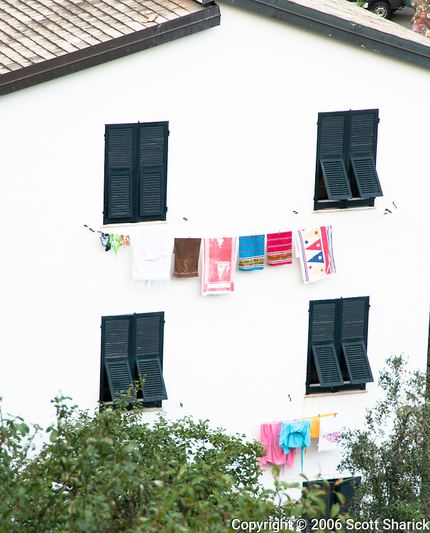 A common sight throughout Italy - clothes hung out to dry from the windows of your home.
