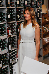 U.S. First Lady Melania Trump visits a wine shop with the spouses of G7 World leaders during a visit on traditional Basque culture in Espelette, near Biarritz as part of the G7 summit, France.August 25, 2019. Photo by Thibaud Moritz/ABACAPRESS.COM