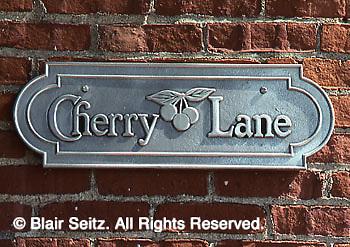 Historic York, PA, Cherry Lane Sign