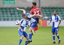 James Daly of Bristol Rovers battles with Liam Bridcutt of Lincoln City - Mandatory by-line: Matt Bunn/JMP - 10/10/2020 - FOOTBALL - LNER Stadium - Lincoln, England - Lincoln City v Bristol Rovers - Sky Bet League One