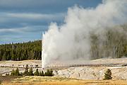 Beehive Geyser erupting