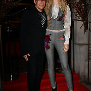 Tamara Orlova Alvarez,  Joe Alvarez attend Travel bag brand hosts the launch of its exclusive luxury collection of handbags in collaboration with model and designer Anastasiia Masiutkina  D'Ambrosio on 26 March 2019, Caviar House & Prunier 161 Piccadilly, London, UK.