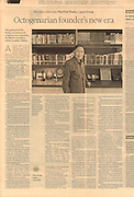 2016 02 29 Tearsheet Financial Times Portrait of Mochtar Riady, Lippo Group. Published on Business Life, on all international editions, page 12, February 29, 2016.