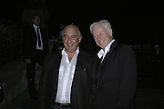 SIR PHILIP GREEN AND DAVID SLADE, Westfield launch at the BFC tent prior toLondon Fashion week. 17 September 2006. ONE TIME USE ONLY - DO NOT ARCHIVE  © Copyright Photograph by Dafydd Jones 66 Stockwell Park Rd. London SW9 0DA Tel 020 7733 0108 www.dafjones.com