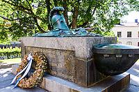 Finland, Helsinki. Augustin Ehrensvärd's grave at Suomenlinna.