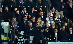 "England Manager Gareth Southgate and England U21 Manager Aidy Boothroyd (centre row, left hand side) watch the action from the stands during the Sky Bet Championship match at Elland Road, Leeds. PRESS ASSOCIATION Photo. Picture date: Friday January 11, 2019. See PA story SOCCER Leeds. Photo credit should read: Simon Cooper/PA Wire. RESTRICTIONS: EDITORIAL USE ONLY No use with unauthorised audio, video, data, fixture lists, club/league logos or ""live"" services. Online in-match use limited to 120 images, no video emulation. No use in betting, games or single club/league/player publications."