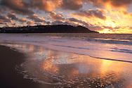 Sunset over Lands End, from Baker Beach, San Francisco, California